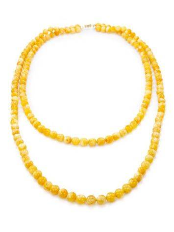 Honey Amber Ball Beaded Necklace The Ariadna, image , picture 3
