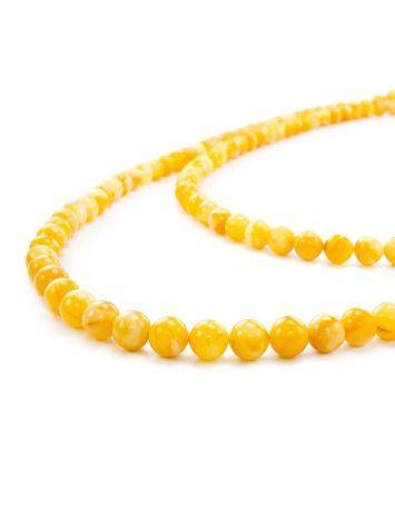 Honey Amber Ball Beaded Necklace The Ariadna, image , picture 4