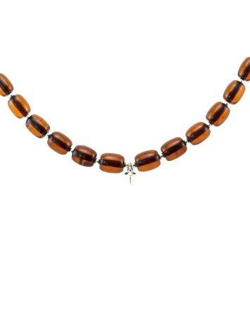 Amber Beaded Necklace With Bail, image , picture 3