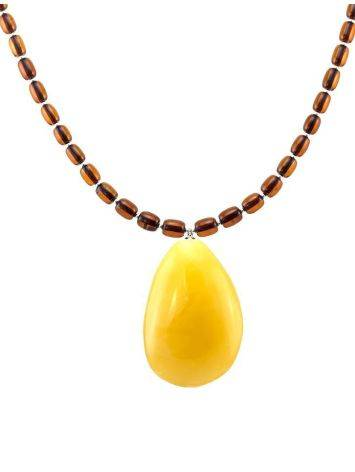 Amber Beaded Necklace With Bail, image , picture 4
