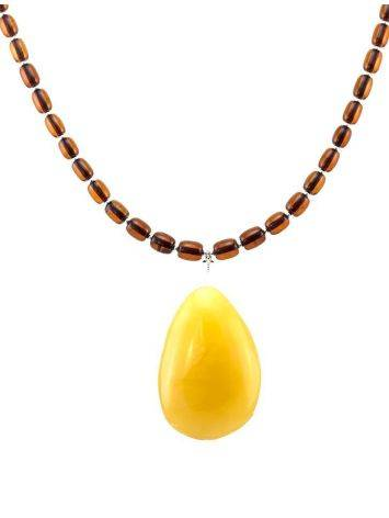 Amber Beaded Necklace With Bail, image , picture 5