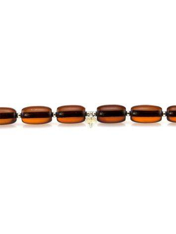 Cognac Amber Beaded Necklace With Bail, image , picture 2