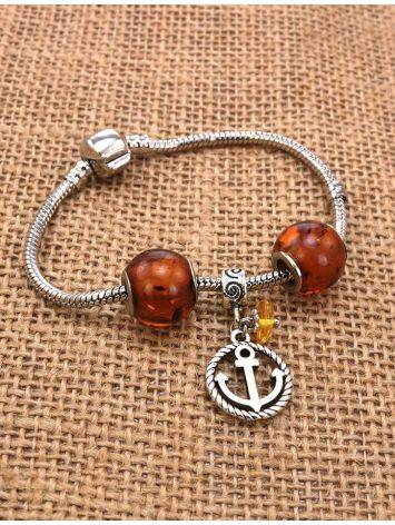 Metal Charm With Lemon Amber The Anchor, image , picture 2