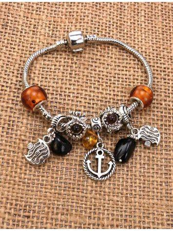 Metal Charm With Lemon Amber The Anchor, image , picture 3