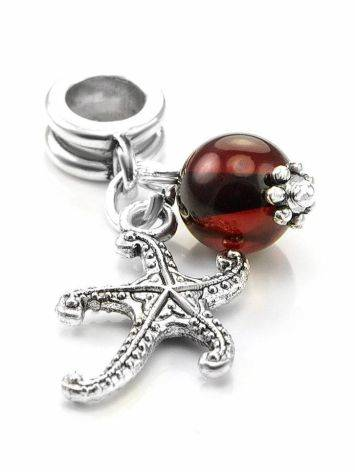 Metal Charm With Cherry Amber The Starfish, image , picture 2