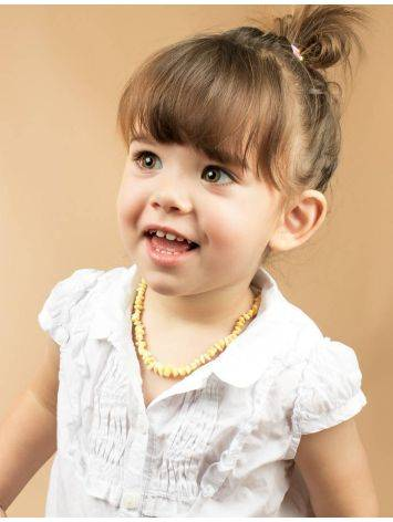 Honey Amber Teething Beaded Necklace, image , picture 5