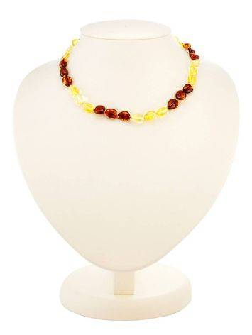 Two-Toned Amber Teething Necklace, image , picture 3