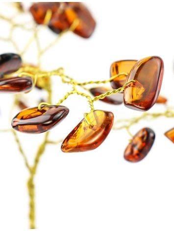 Amber Brass Decorative Money Tree, image , picture 2