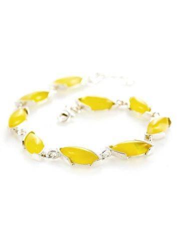 Silver Amber Link Bracelet, image , picture 3