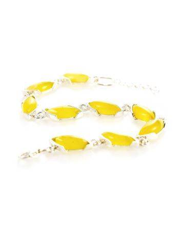 Silver Amber Link Bracelet, image , picture 2