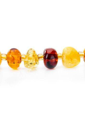 Amber Teething Necklace With Angel Shaped Pendant, image , picture 6