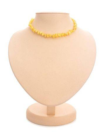 Honey Amber Teething Beaded Necklace, image , picture 2