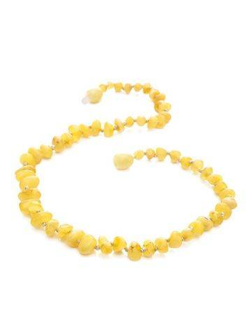Honey Amber Teething Beaded Necklace, image , picture 4