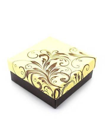 Ornate Beige Cardboard Gift Box, image