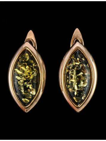Green Amber Gold Earrings The Amaranth, image , picture 2