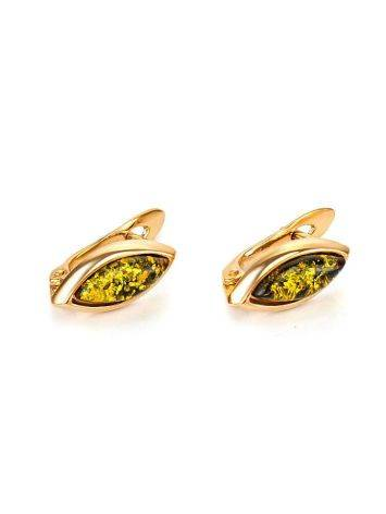 Adorable Golden Earrings With Natural Amber The Andromeda, image , picture 3