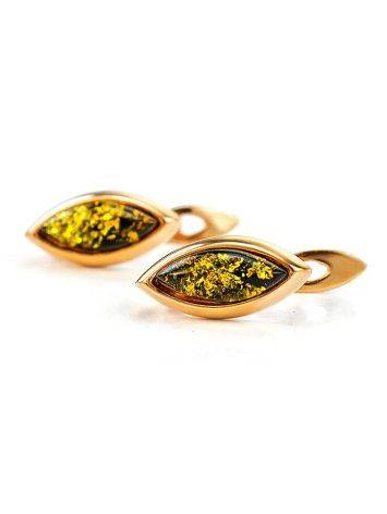 Adorable Golden Earrings With Natural Amber The Andromeda, image , picture 2