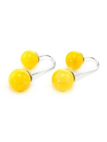 Bright Honey Amber Threader Earrings In Sterling Silver The Paris, image , picture 3