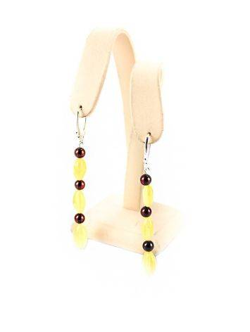Two Tone Amber Dangles In Sterling Silver The Bohemia, image , picture 5