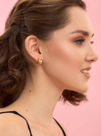 Chunky Gold Plated Silver Hoop Earrings The Liquid, image , picture 3
