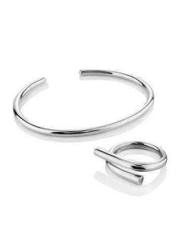 Sleek Silver Cuff Bracelet The ICONIC, image , picture 5