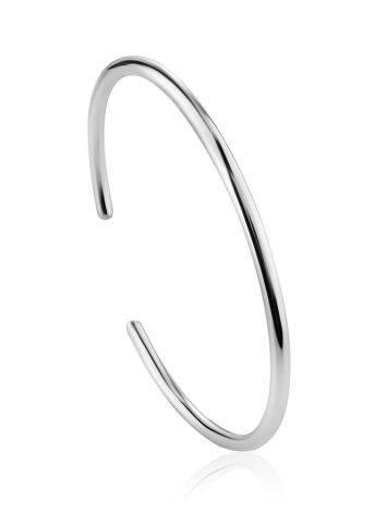 Sleek Silver Cuff Bracelet The ICONIC, image