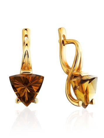 Amazing Gold Citrine Earrings, image