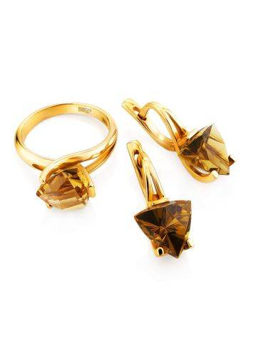 Amazing Gold Citrine Earrings, image , picture 3