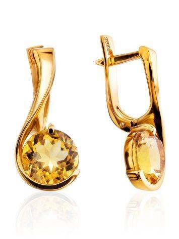 Lustrous Gold Citrine Earrings, image