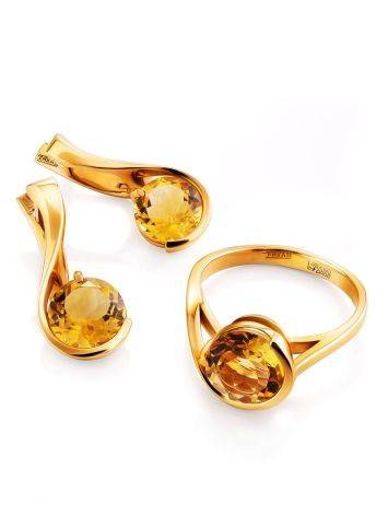 Lustrous Gold Citrine Earrings, image , picture 3