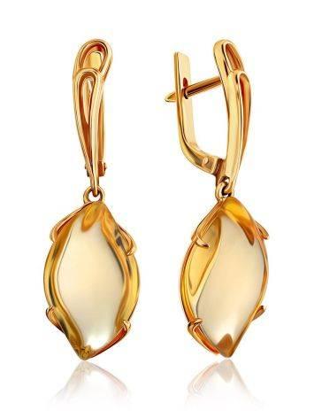Fashionable Gold Citrine Dangle Earrings, image