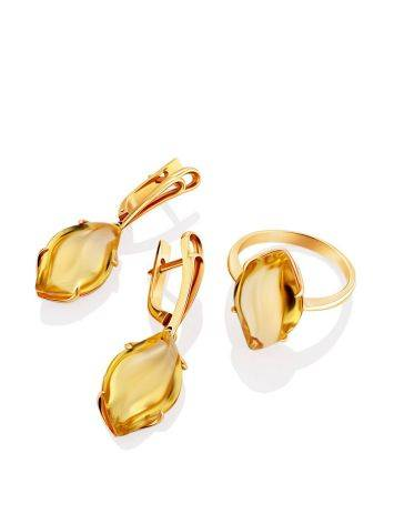 Fashionable Gold Citrine Dangle Earrings, image , picture 3