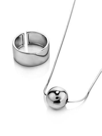 Silver Orb Pendant Necklace The ICONIC, image , picture 4