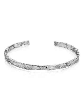 Hammered Silver Bangle Bracelet The Liquid, image , picture 4