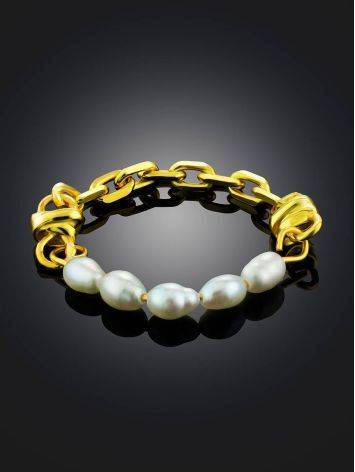 Link Band Ring With Pearl The Palazzo, Ring Size: 6 / 16.5, image , picture 2