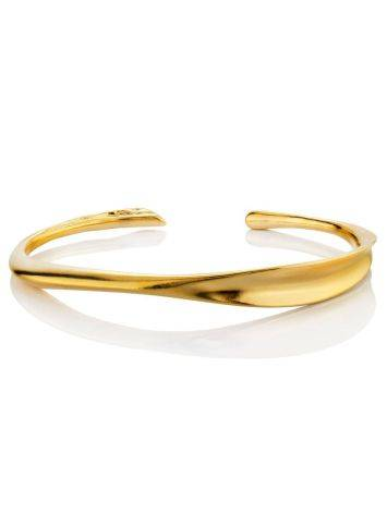 Minimalist Gold Plated Silver Cuff Bracelet The ICONIC, image , picture 3