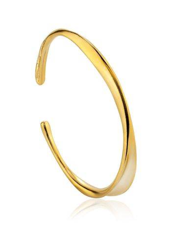 Minimalist Gold Plated Silver Cuff Bracelet The ICONIC, image