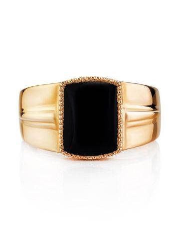 Statement Gold Agate Signet Ring, Ring Size: 11.5 / 21, image , picture 3