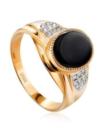 Fabulous Unisex Gold Ring With Crystals, Ring Size: 12 / 21.5, image