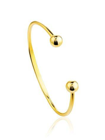Beautiful Gold-Plated Silver Torque Bangle The ICONIC, image