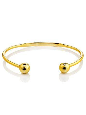 Beautiful Gold-Plated Silver Torque Bangle The ICONIC, image , picture 4