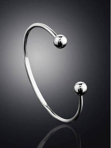 Stylish Retro Classic Sterling Silver Torque Bangle The ICONIC, image , picture 2