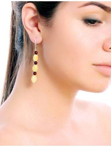 Two Tone Amber Dangles In Sterling Silver The Bohemia, image , picture 2
