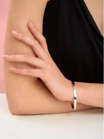 Sleek Silver Minimalist Bangle Bracelet The ICONIC, image , picture 3