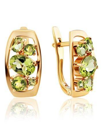 Golden Chrysolite Earrings, image