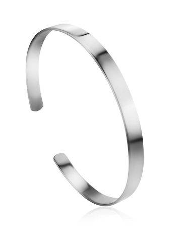 Sleek Silver Minimalist Bangle Bracelet The ICONIC, image