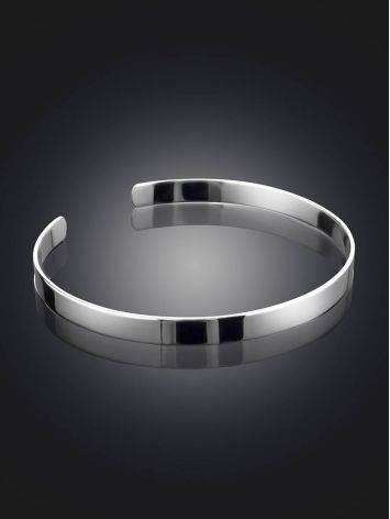 Sleek Silver Minimalist Bangle Bracelet The ICONIC, image , picture 2