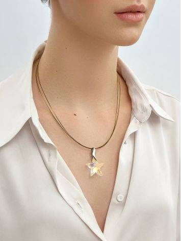 Crystal Star Pendant Necklace The Fame, image , picture 4