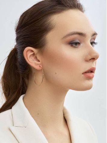 Stylish Golden Hoop Earrings, image , picture 3
