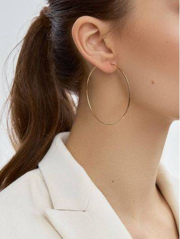 Chic Golden Hoop Earrings, image , picture 3